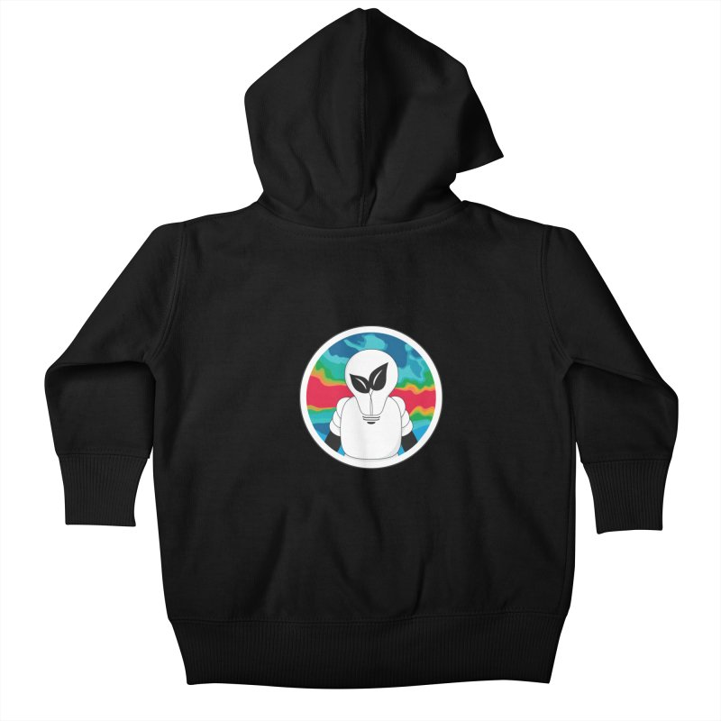 Space Buckets - Simple Logo Kids Baby Zip-Up Hoody by spacebuckets's Artist Shop