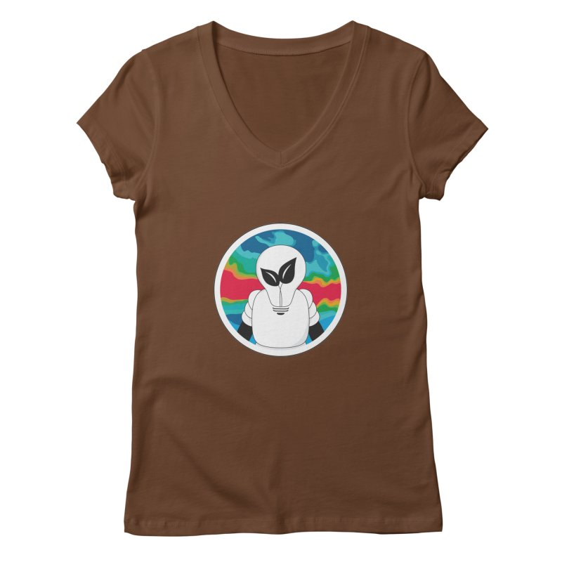 Space Buckets - Simple Logo Women's V-Neck by spacebuckets's Artist Shop