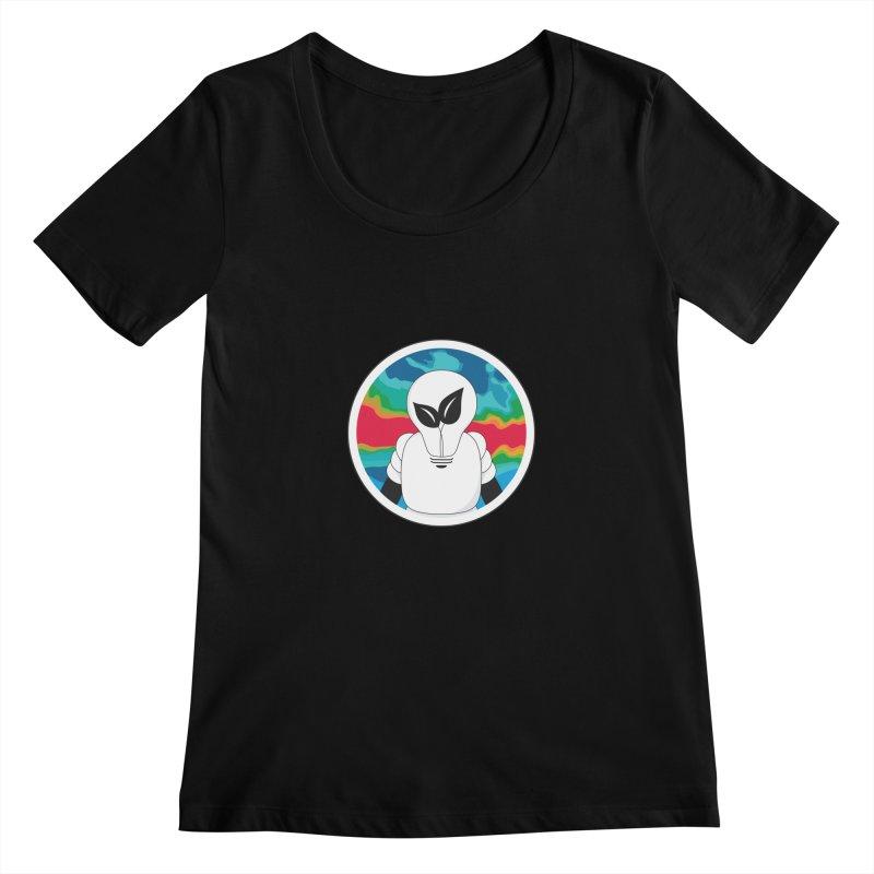 Space Buckets - Simple Logo Women's Scoopneck by spacebuckets's Artist Shop
