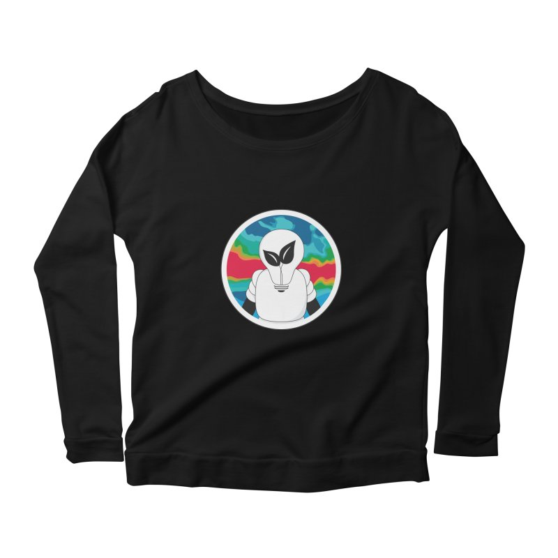 Space Buckets - Simple Logo Women's Scoop Neck Longsleeve T-Shirt by spacebuckets's Artist Shop