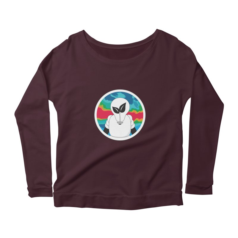 Space Buckets - Simple Logo Women's Longsleeve Scoopneck  by spacebuckets's Artist Shop