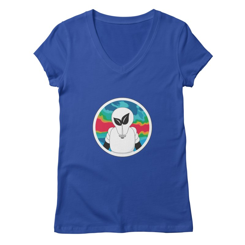 Space Buckets - Simple Logo Women's Regular V-Neck by spacebuckets's Artist Shop