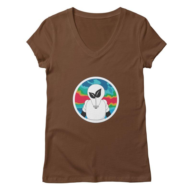Space Buckets - Simple Logo Women's V-Neck by spacebuckets's Artist Shop