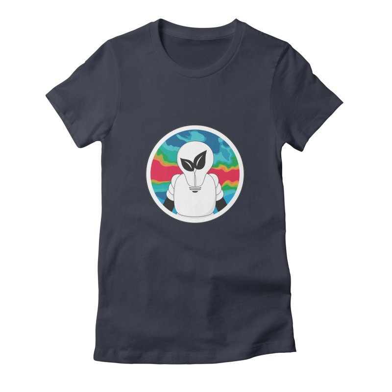 Space Buckets - Simple Logo Women's Fitted T-Shirt by spacebuckets's Artist Shop