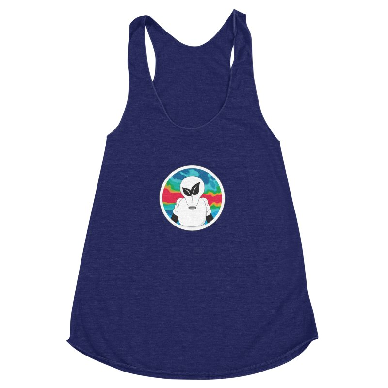 Space Buckets - Simple Logo Women's Racerback Triblend Tank by spacebuckets's Artist Shop
