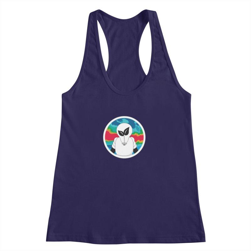 Space Buckets - Simple Logo Women's Racerback Tank by spacebuckets's Artist Shop