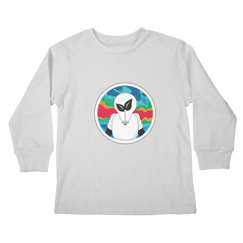 Space Buckets - Simple Logo Kids Longsleeve T-Shirt by spacebuckets's Artist Shop