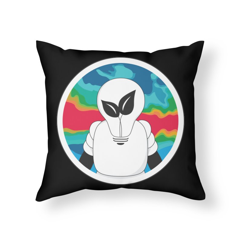 Space Buckets - Simple Logo Big Home Throw Pillow by spacebuckets's Artist Shop