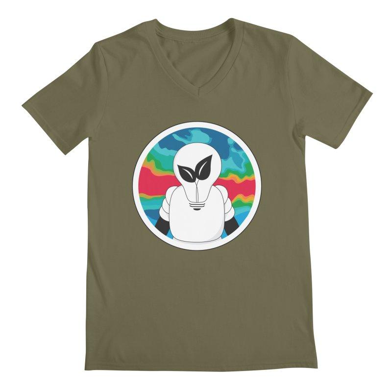 Space Buckets - Simple Logo Big Men's V-Neck by spacebuckets's Artist Shop