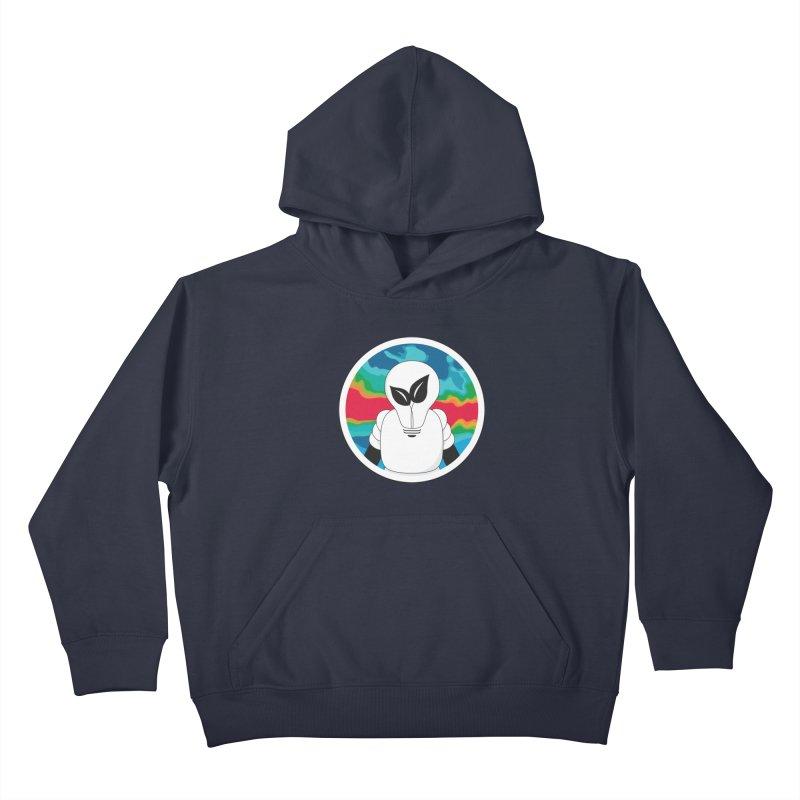 Space Buckets - Simple Logo Big Kids Pullover Hoody by spacebuckets's Artist Shop