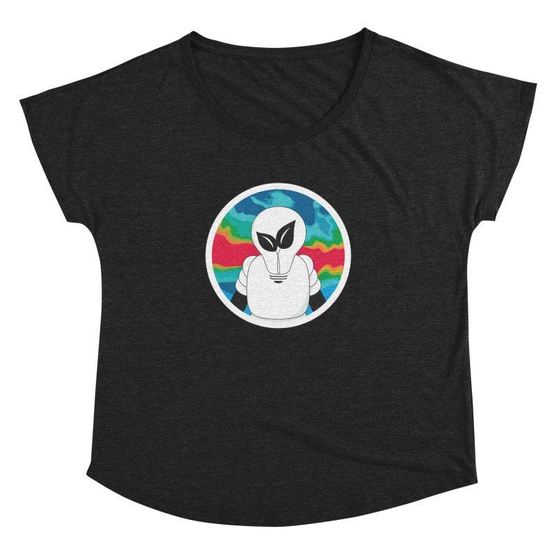 Space Buckets - Simple Logo Big Women's Dolman Scoop Neck by spacebuckets's Artist Shop