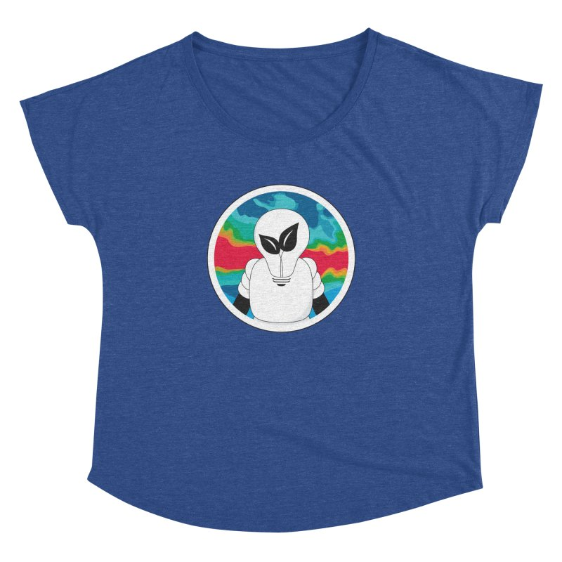Space Buckets - Simple Logo Big Women's Dolman Scoop Neck by spacebuckets's Artist Shop