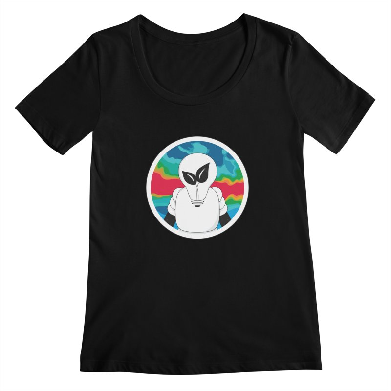 Space Buckets - Simple Logo Big Women's Scoopneck by spacebuckets's Artist Shop