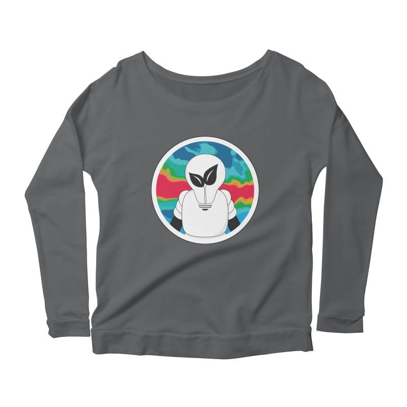 Space Buckets - Simple Logo Big Women's Longsleeve Scoopneck  by spacebuckets's Artist Shop