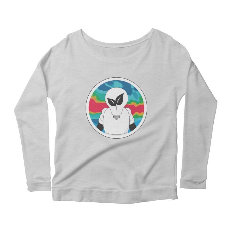 Space Buckets - Simple Logo Big Women's Scoop Neck Longsleeve T-Shirt by spacebuckets's Artist Shop