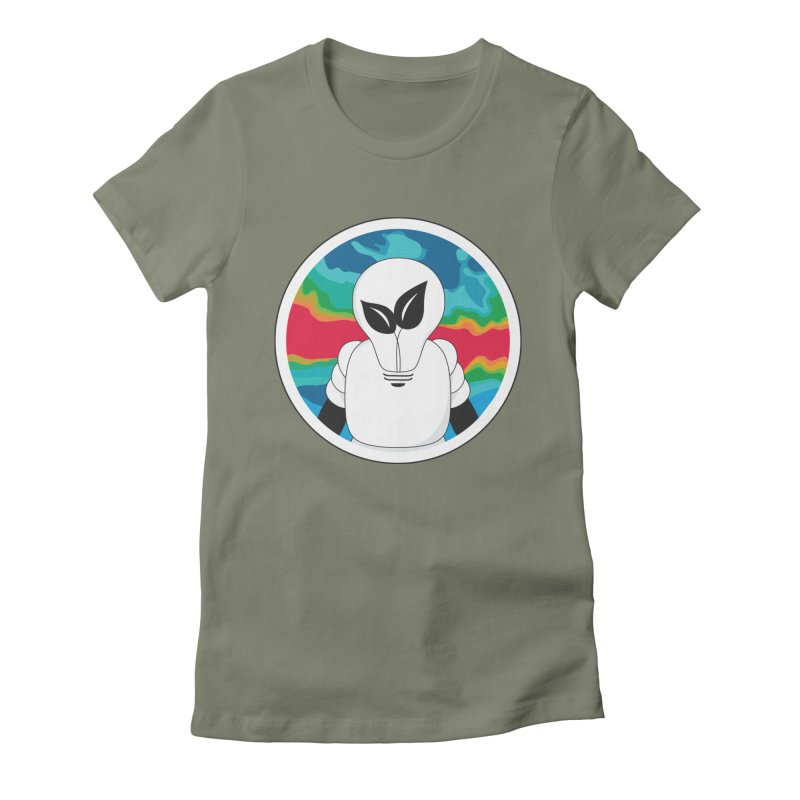 Space Buckets - Simple Logo Big Women's Fitted T-Shirt by spacebuckets's Artist Shop
