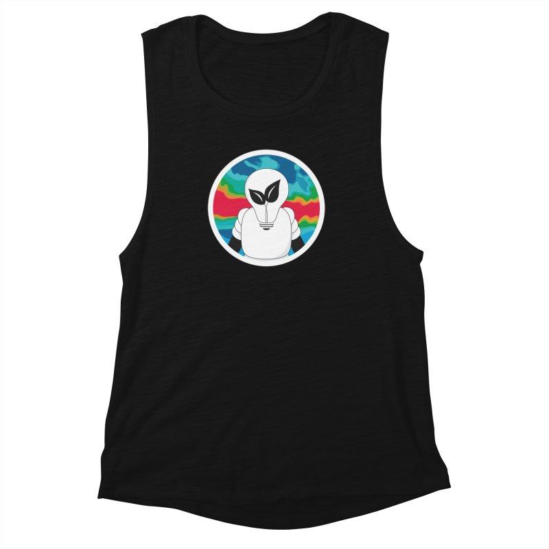 Space Buckets - Simple Logo Big Women's Muscle Tank by spacebuckets's Artist Shop