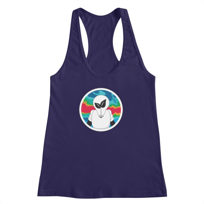 Space Buckets - Simple Logo Big Women's Racerback Tank by spacebuckets's Artist Shop
