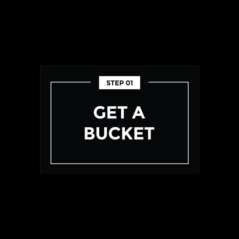 Get a bucket Home Fine Art Print by spacebuckets's Artist Shop