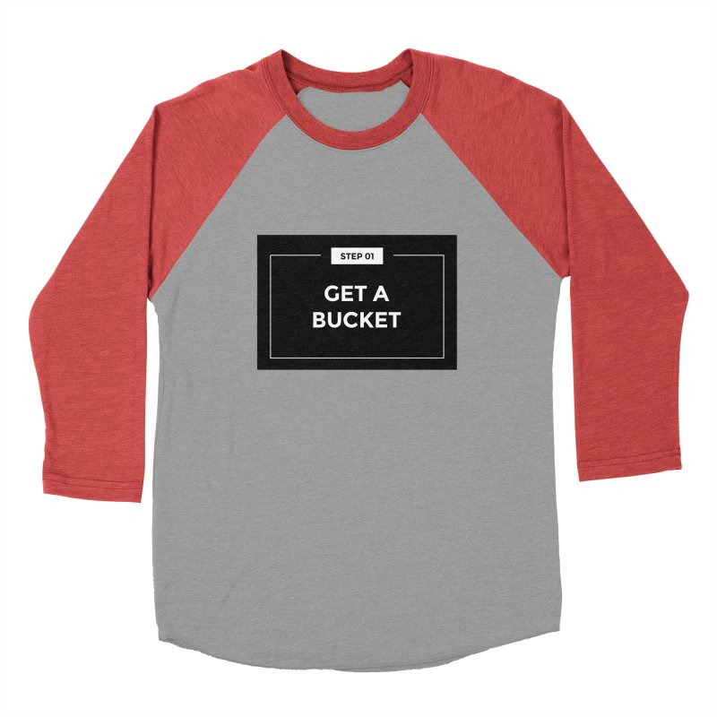 Get a bucket Men's Baseball Triblend Longsleeve T-Shirt by spacebuckets's Artist Shop