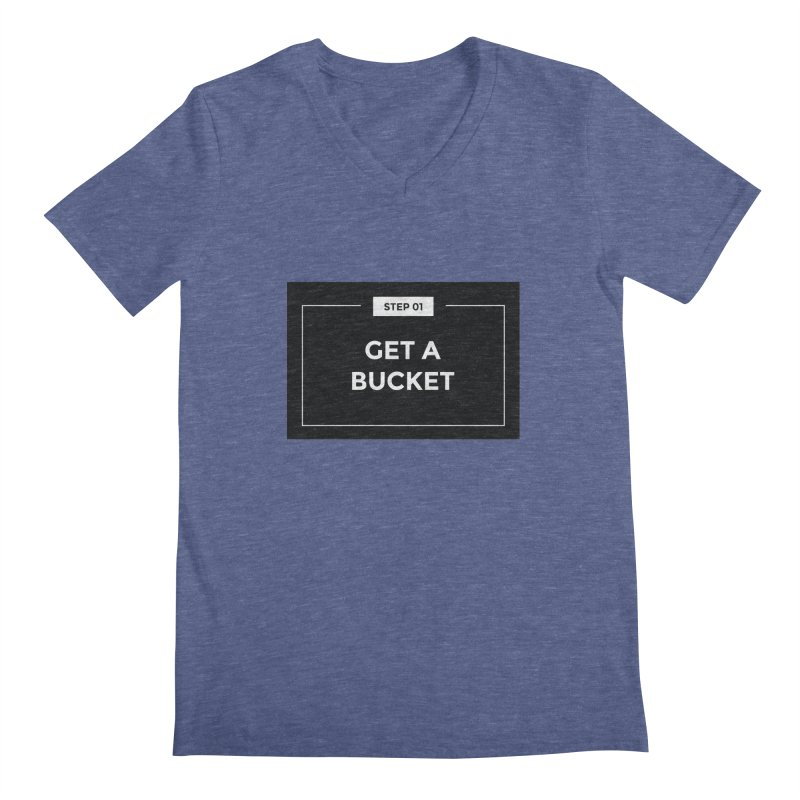 Get a bucket Men's Regular V-Neck by spacebuckets's Artist Shop