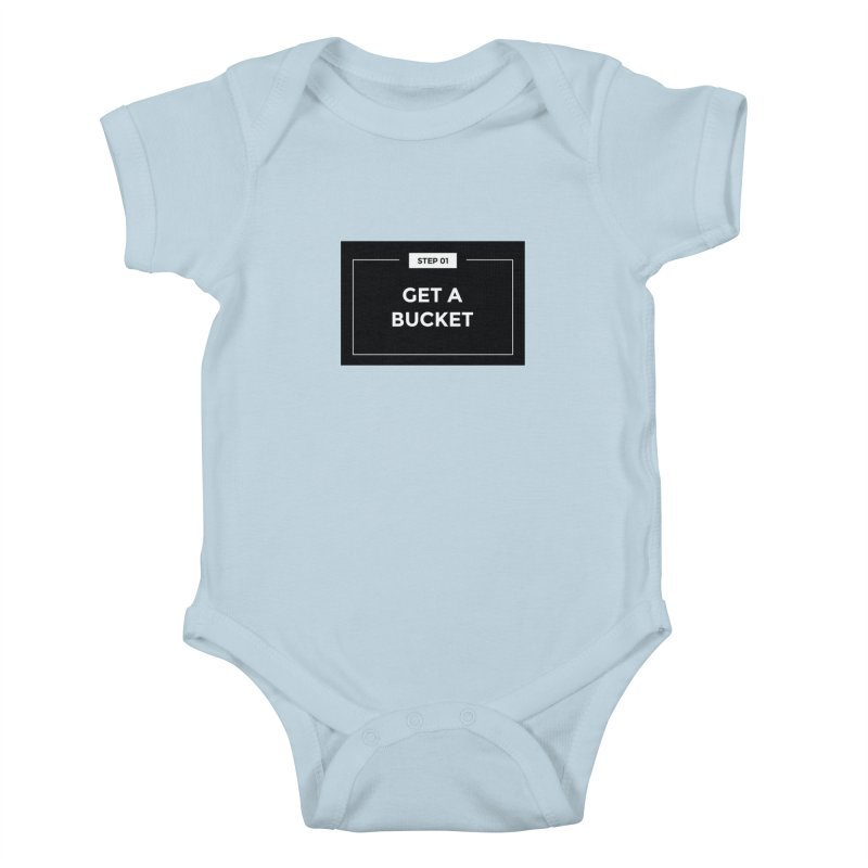 Get a bucket Kids Baby Bodysuit by spacebuckets's Artist Shop