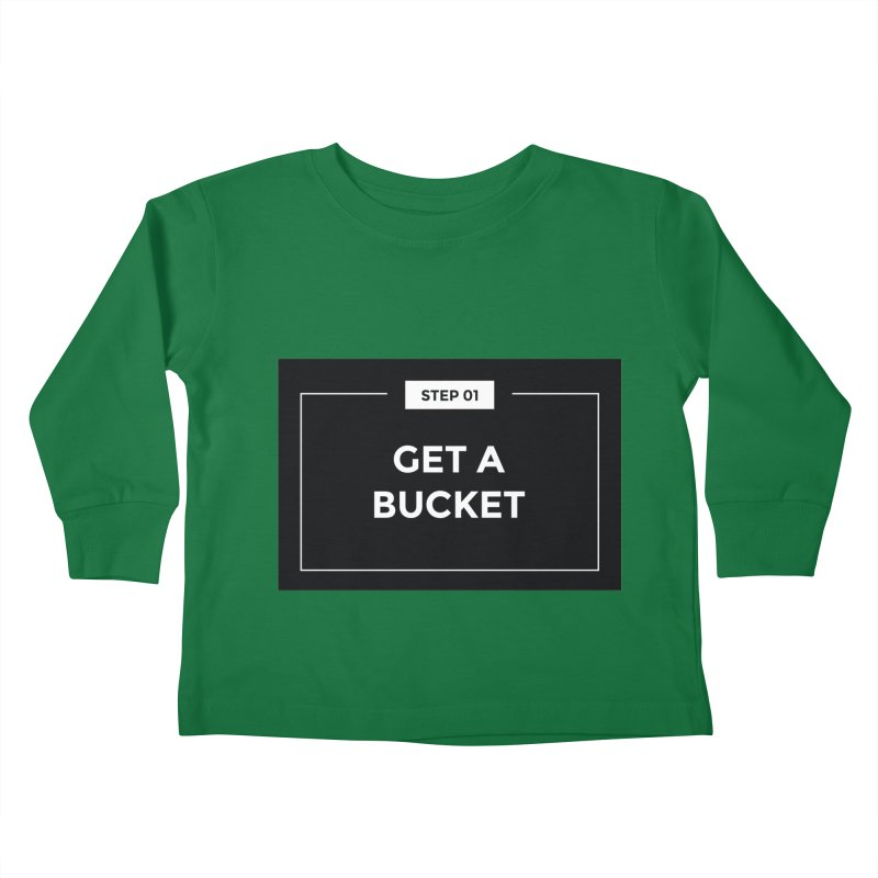 Get a bucket Kids Toddler Longsleeve T-Shirt by spacebuckets's Artist Shop