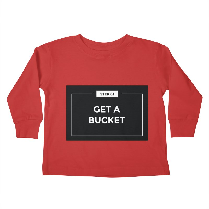 Get a bucket Kids Toddler Longsleeve T-Shirt by spacebuckets's Artist Shop