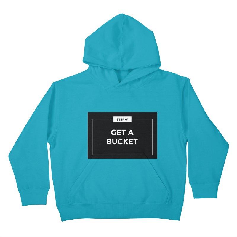 Get a bucket Kids Pullover Hoody by spacebuckets's Artist Shop