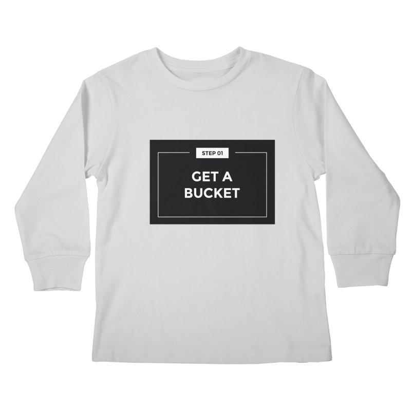 Get a bucket Kids Longsleeve T-Shirt by spacebuckets's Artist Shop