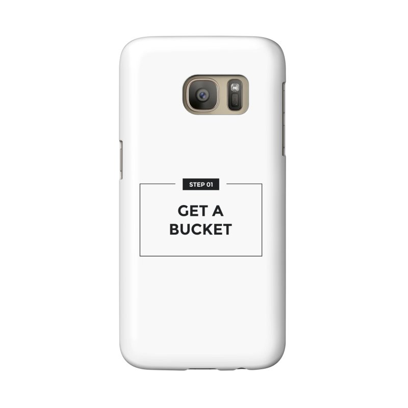 Get a bucket - white Accessories Phone Case by spacebuckets's Artist Shop