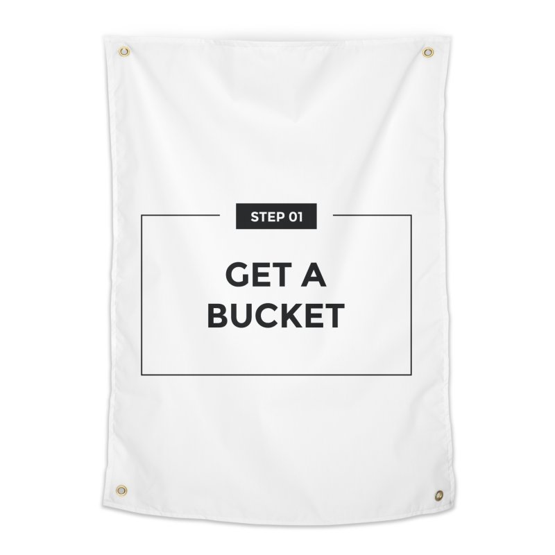 Get a bucket - white Home Tapestry by spacebuckets's Artist Shop