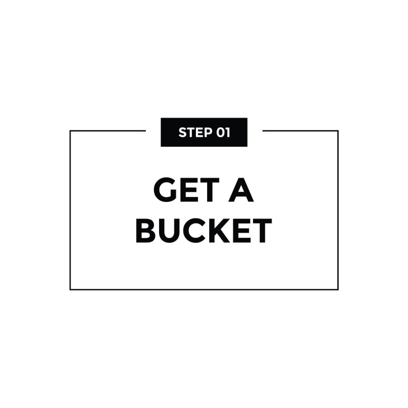 Get a bucket - white Men's T-Shirt by spacebuckets's Artist Shop