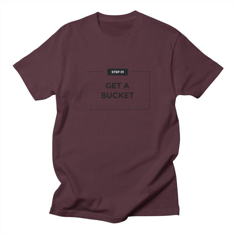 Get a bucket - white Men's T-Shirt by spacebuckets's Artist Shop