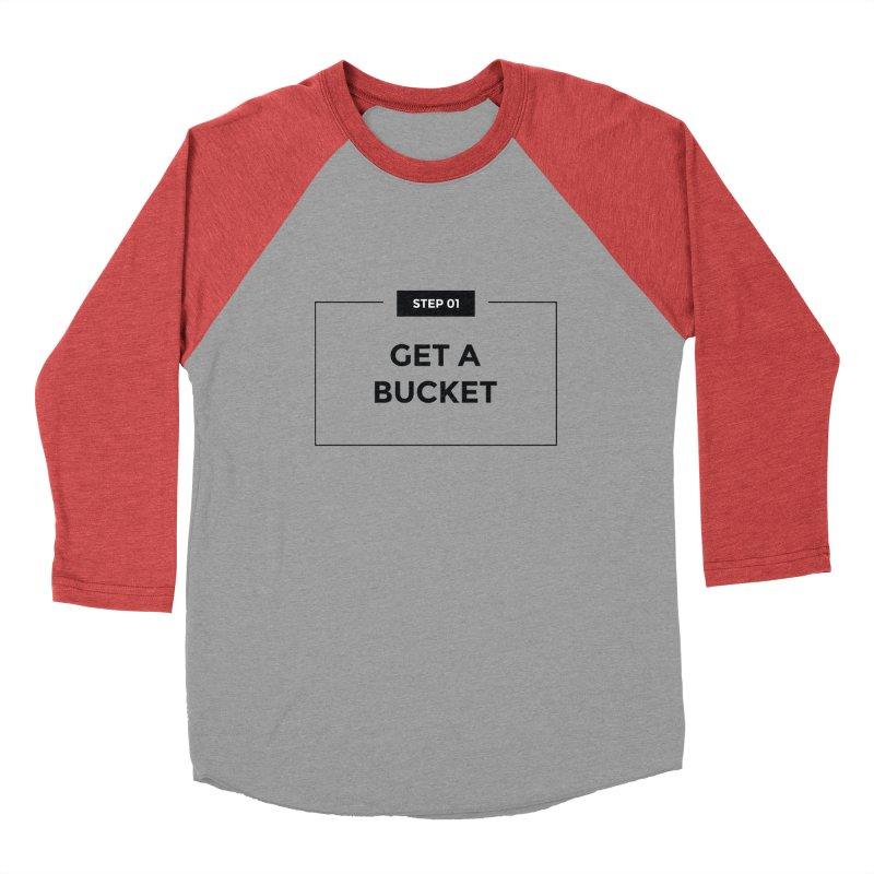 Get a bucket - white Men's Longsleeve T-Shirt by spacebuckets's Artist Shop