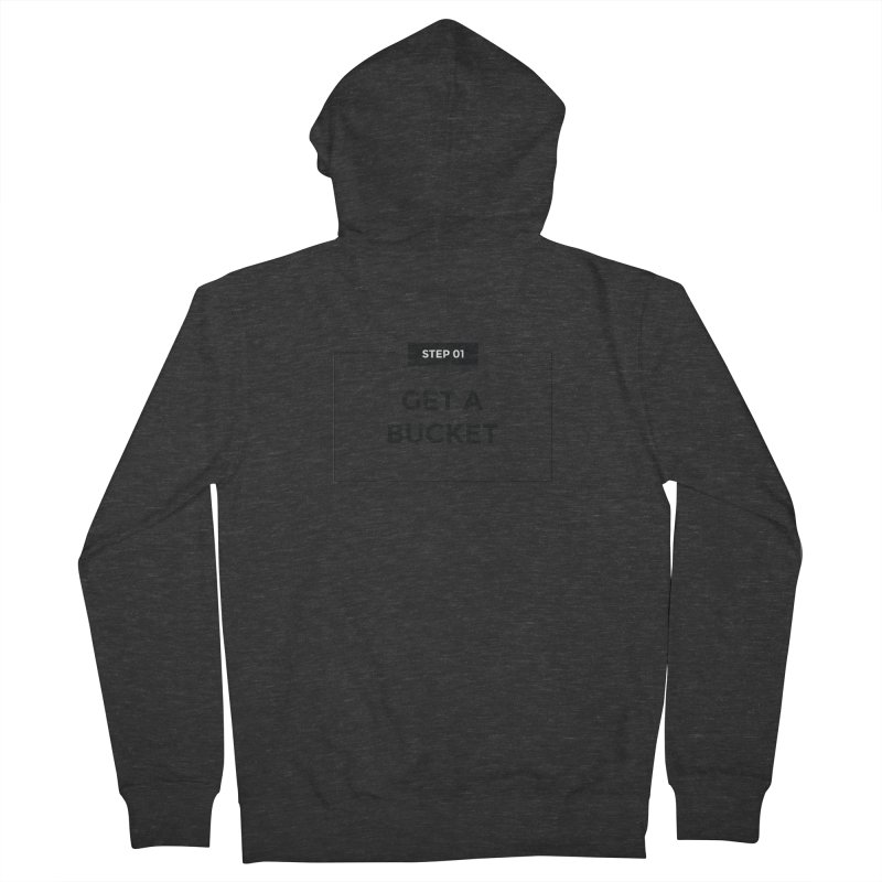 Get a bucket - white Women's French Terry Zip-Up Hoody by spacebuckets's Artist Shop