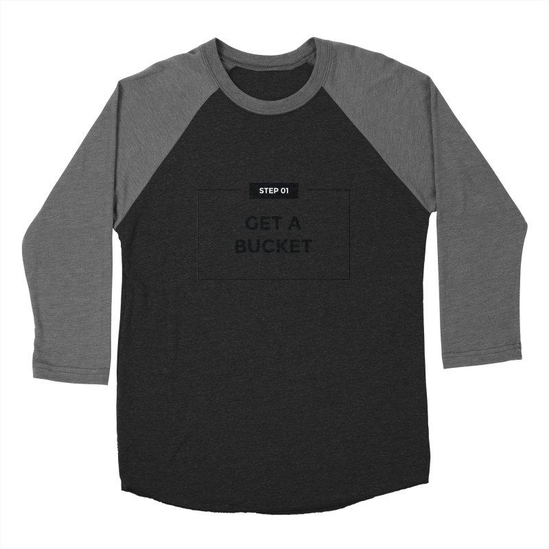 Get a bucket - white Women's Baseball Triblend Longsleeve T-Shirt by spacebuckets's Artist Shop