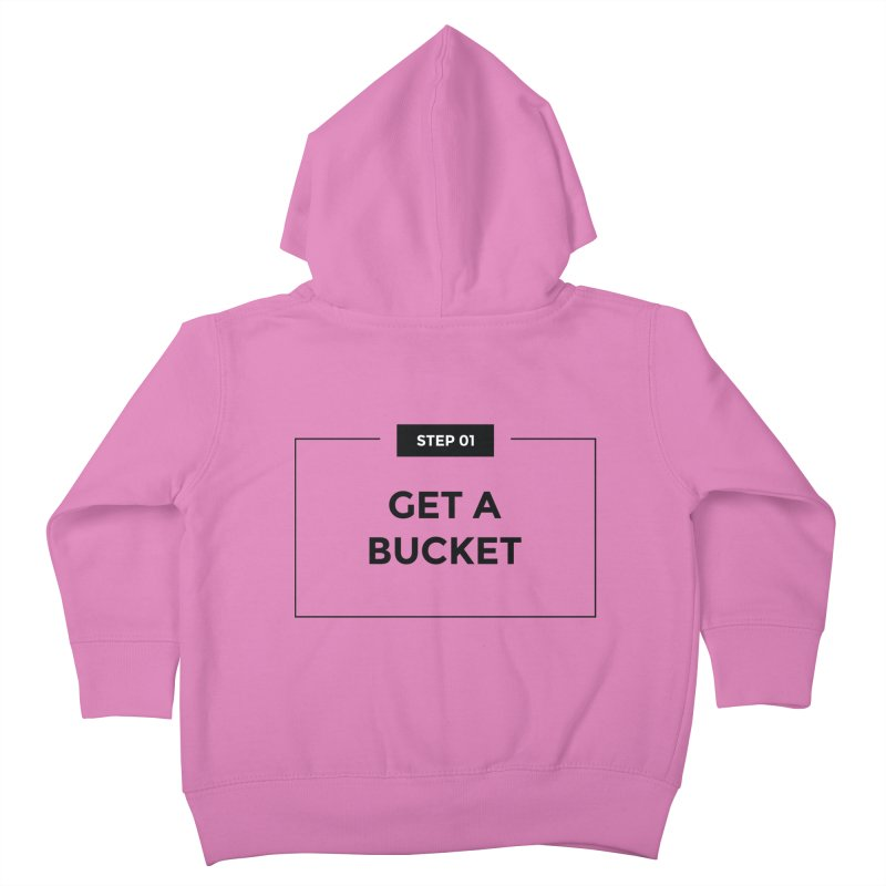 Get a bucket - white Kids Toddler Zip-Up Hoody by spacebuckets's Artist Shop