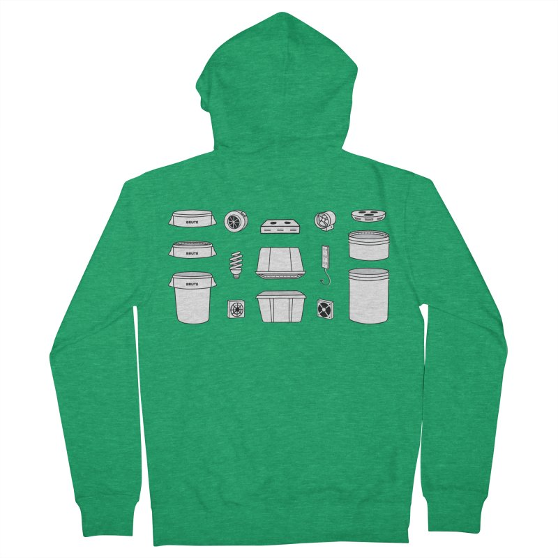 Bucket Builder Men's Zip-Up Hoody by spacebuckets's Artist Shop