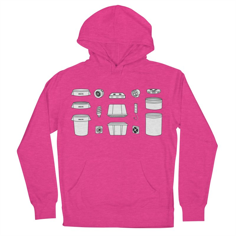 Bucket Builder Women's French Terry Pullover Hoody by spacebuckets's Artist Shop