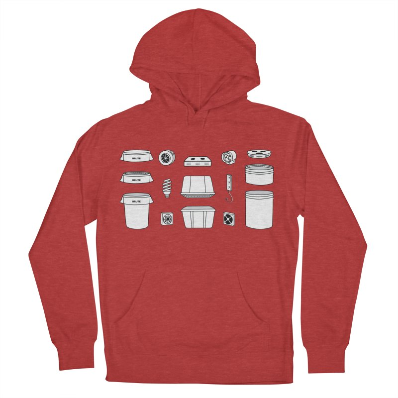 Bucket Builder Men's French Terry Pullover Hoody by spacebuckets's Artist Shop