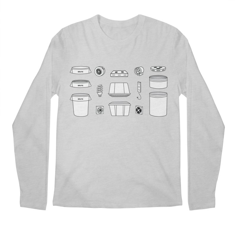 Bucket Builder Men's Regular Longsleeve T-Shirt by spacebuckets's Artist Shop