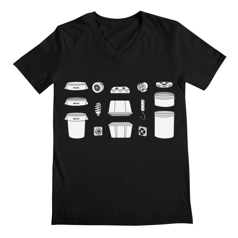 Bucket Builder Men's Regular V-Neck by spacebuckets's Artist Shop