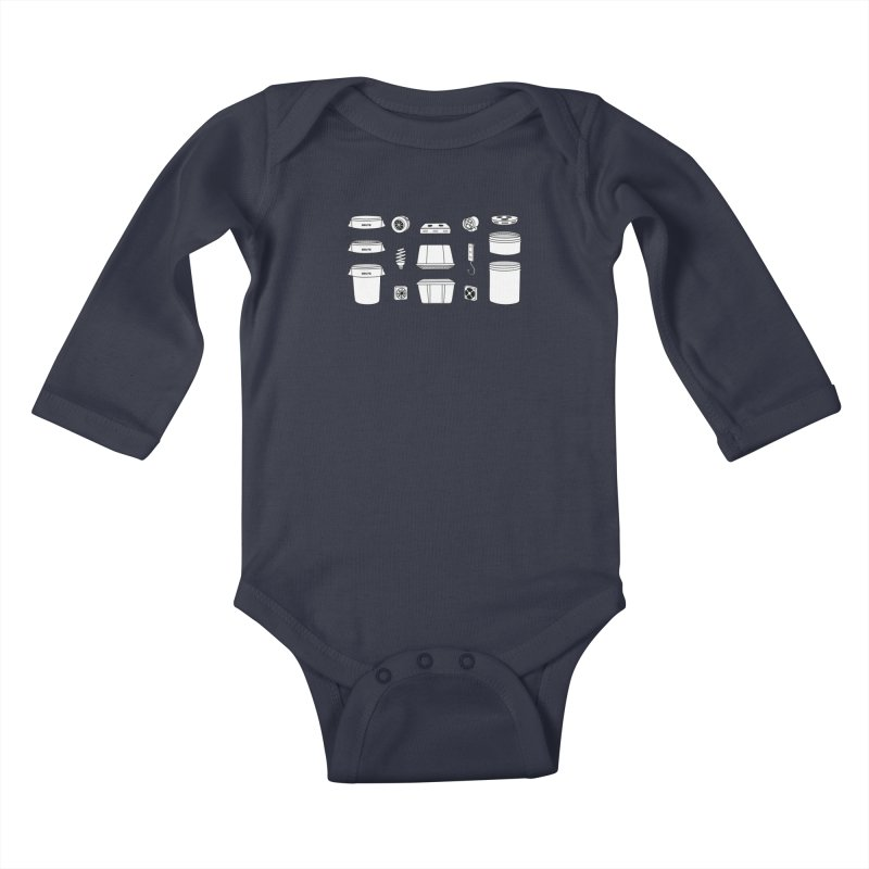 Bucket Builder Kids Baby Longsleeve Bodysuit by spacebuckets's Artist Shop