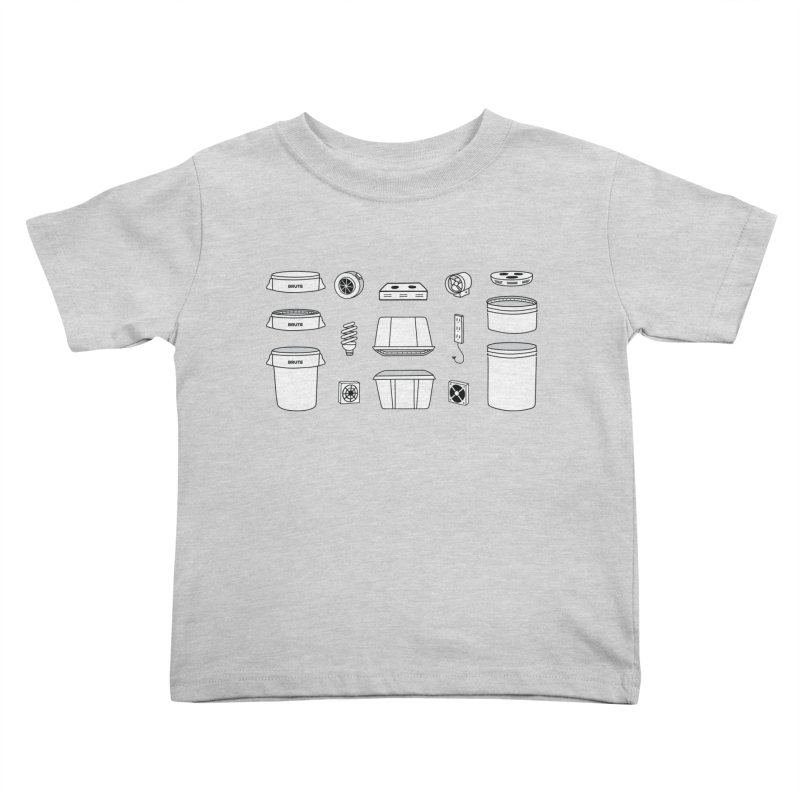 Bucket Builder Kids Toddler T-Shirt by spacebuckets's Artist Shop