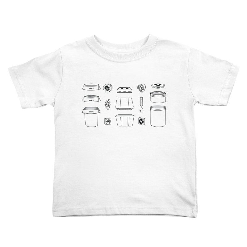 Bucket Builder Kids Toddler T-Shirt by spacebuckets's Artist Shop