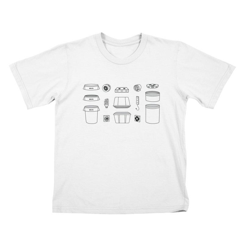 Bucket Builder Kids T-Shirt by spacebuckets's Artist Shop