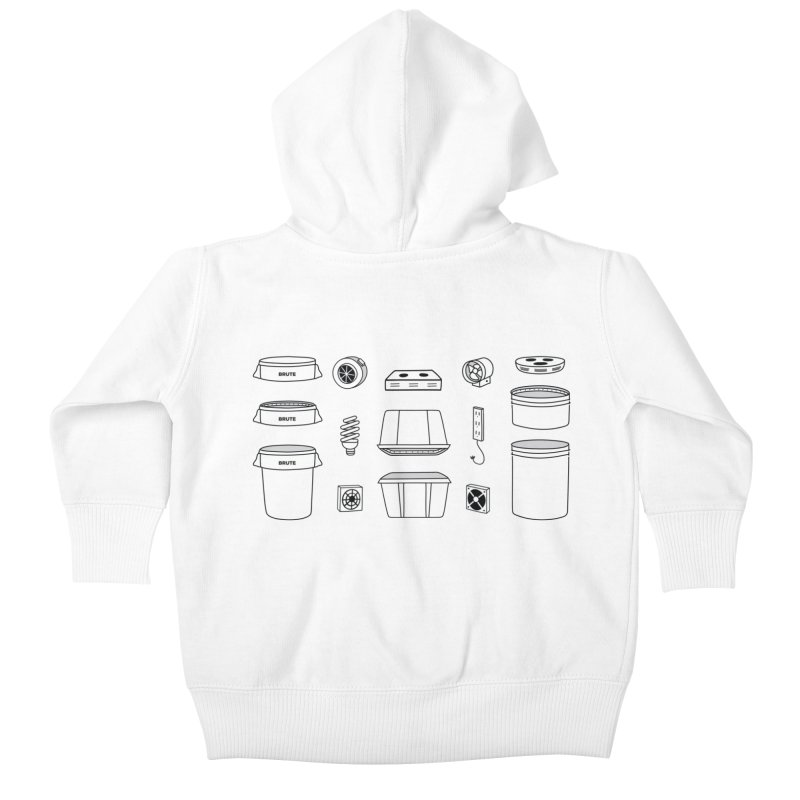 Bucket Builder Kids Baby Zip-Up Hoody by spacebuckets's Artist Shop
