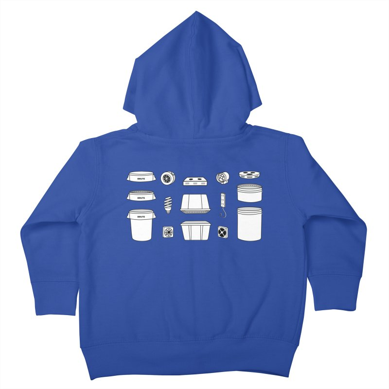 Bucket Builder Kids Toddler Zip-Up Hoody by spacebuckets's Artist Shop