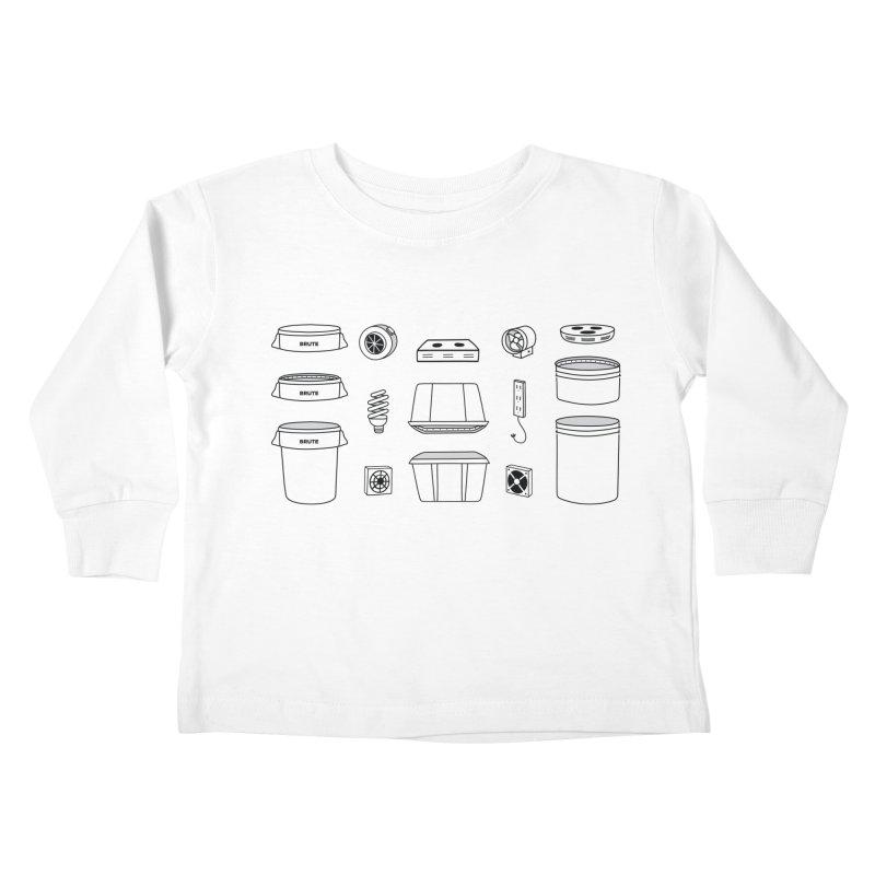 Bucket Builder Kids Toddler Longsleeve T-Shirt by spacebuckets's Artist Shop